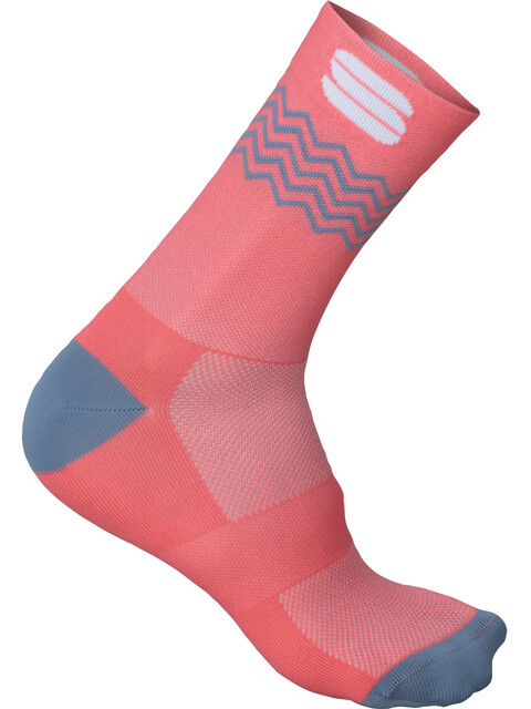 Sportful Flair 15 Socks coral fluo/tradewinds